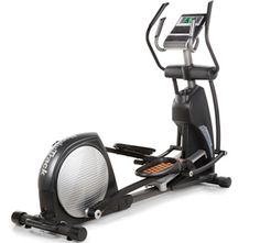 I bought this NordicTrack elliptical a couple of years ago and it's definitely held up.  It has the basic features you'd expect (pre-programmed workouts, adjustable ramp & resistance) along with a built-in fan and speakers so you can plug in your iPod. It's a good backup workout when you don't have enough time to get to the gym.