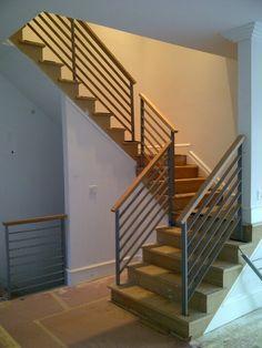Small Stairway Railings   In Progress