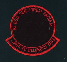"You know that a mission is top-secret when not even an obscure symbol can be used to represent it. This patch was designed as a generic insignia for ""black"" ..."