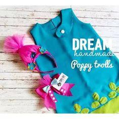 Disfraz Poppy Troll. Vestido Poppy Moño Poppy - $ 550.00