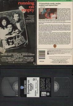 Running on Empty VHS Christine Lahti, Judd Hirsch, River Pheonix; Sidney Lumet  RUNNING ON EMPTY, directed by Sidney Lumet, is the moving tale of a young man whose parents were political agitators in the 1960s. Ever since, the family has been changing locations, changing their names, and hiding from the FBI. The young man wants to pursue a career in music, but he fears that his ever-changing identity will eventually expose his parents.