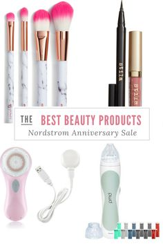 The very best beauty products from the Nordstrom Anniversary Sale! Stila eyeliner sale, PMD sale, Clarisonic sale, makeup brushes, stila gloss, clean face, anti-aging products, best makeup.