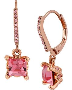 PINK CRYSTAL EURO DROP EARRING PINK accessories jewelry earrings fashion