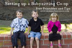 Mommy Lessons 101: Free Printables and Tips for Setting up a Babysitting Co-op