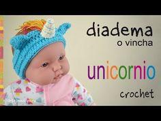 Diadema o vincha unicornio tejida a crochet en 5 tallas -  Tejiendo Perú - YouTube