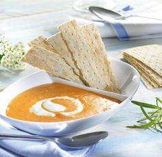 Scharfe Möhrensuppe                              -                                  Eine würzige Suppe mit Möhren und Chili