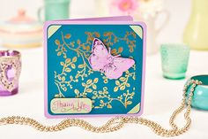 This gorgeous card was made using the TODO machine from Create and Craft (PaperCrafter, issue Handmade Thank You Cards, Birthday Cards For Women, Create And Craft, Free Paper, New Shows, Letterpress, Cardmaking, Your Cards, Paper Crafts