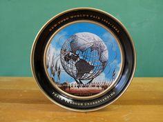 1964 New York World's Fair Unisphere Souvenir Tray, metal, via Cathode Blue on Etsy http://www.etsy.com/shop/cathodeblue