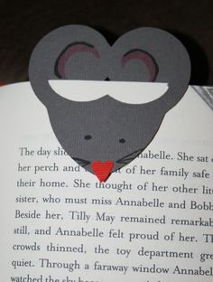 mouse bookmark (with template)