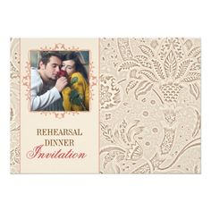 Photo Wedding Rehearsal Dinner vintage rehearsal dinner invitations with photo