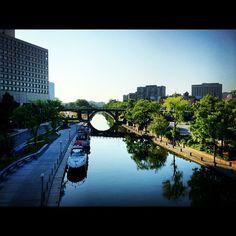 Rideau Canal in Ottawa, ON