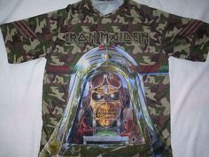 Iron Maiden - Aces high, camouflage all over print, sublimated t-shirt #REBELSshirt #ShortSleeve