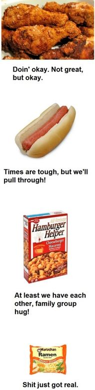 This made me laugh because it's true. Especially the ramen noodles. I tried it once and that's on my list of foods I cannot eat. Yuck! MSG!
