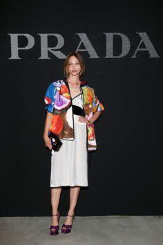 Sasha Pivovarova  Design: Prada