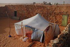 Nomad shelter    Chinguetti, Adrar, Mauritania  Google Earth user mabut (hehe)