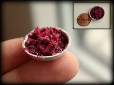 Puppenstube - Puppenküche - Miniatur Essen - Blaukraut - Gemüsebeilage -1:12