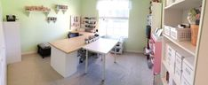 Organized Scrapbook Studio: Nancy Nally with Scrapbook Update Art Studio Design, Craft Room Design, Space Crafts, Basement Remodeling, Room Organization, Homemade Cards, Declutter, Studios, Tours