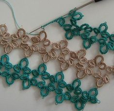 I'd kinda like to try cro-tatting someday too. Because needle and shuttle tatting isn't enough tatting, I guess.