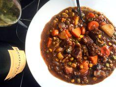 Hearty Vegan Beef & Vegetable Stew for the Slow Cooker – Delightful-Delicious-Delovely Vegan Beef, Vegan Soups, Vegan Recipes Easy, Vegetarian Recipes, Vegetable Stew, Soups And Stews, Christine Elise, Slow Cooker, Pinterest Board