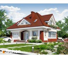 Дом в клеверках 3 Best Small House Designs, Simple House Design, Dream Home Design, Three Bedroom House Plan, Bungalow House Design, Attic Design, Unique Architecture, Design Case, House Floor Plans