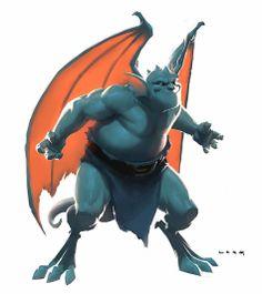 Disney Cartoon The Gargoyles concept art Broadway by Ryan Lang Character Concept, Character Art, Concept Art, Manga Comics, Level Design, Fanart, Character Design References, Creature Design, Fantasy Creatures