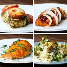 Chicken Bake 4 Ways by Tasty