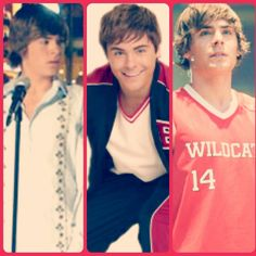 Troy Bolton through the years. Loved him then, love him now.