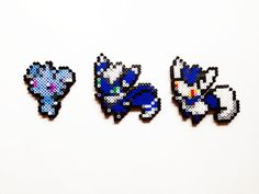 Pokemon X and Y Perler - Espurr / Meowstic by ShowMeYourBits on deviantART
