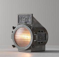 Mini Vintage Rail Car Lamp- Restoration Hardware