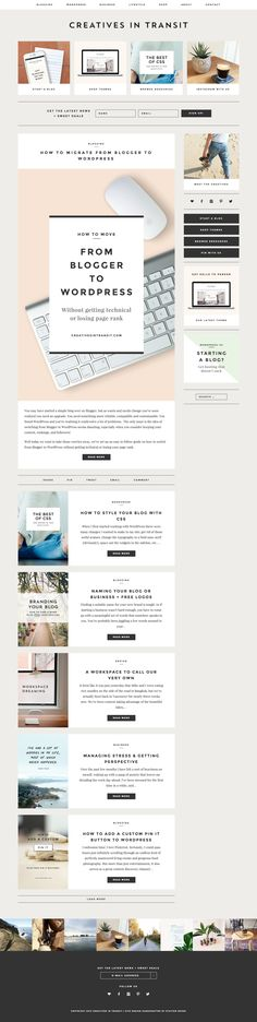 Creatives in Transit (redesigned), running on Station Seven's Parker Wordpress Theme