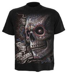 Spiral Direct EL MUERTO t-shirt/tee/top/tshirt, biker/tattoo/sugar skull/horror