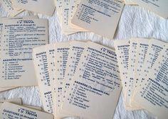 Vintage Trivia Cards  T V Trivia Hoyle by VintagePlusCrafts, $4.50