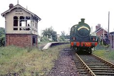 Crumlin Station, Co Antrim, June The signal box was demolished shortly after this. Old Steam Train, Rail Train, Disused Stations, British Rail, Train Journey, Abandoned Buildings, Locomotive, Towers, Masters