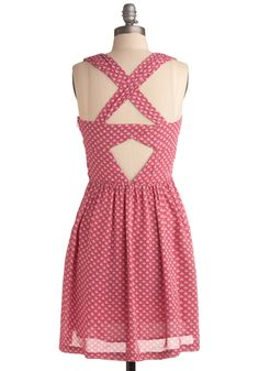 Frock the Boats. If you 'harbor' a deep desire to have darling little dresses this season, we're pleased to introduce you to this particularly pretty piece. #pink #modcloth