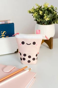 Pearl Tea, Diy Pencil Case, Bubble Milk Tea, Cool School Supplies, Cute Stationary, Kawaii Room, All Things Cute, Airpod Case, Tea Lights