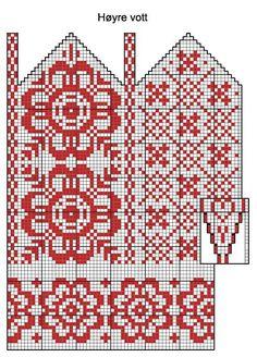 New knitting patterns mittens charts Ideas Knitting Charts, Knitting Socks, Knitting Stitches, Knitting Patterns Free, Hand Knitting, Knitted Mittens Pattern, Crochet Mittens, Knitted Gloves, Bonnet Crochet