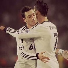 Cristiano Ronaldo and Özil  Real Madrid
