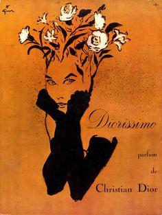 vintage dior diorissimo gruau 1957 Diorissimo, le parfum du muguet