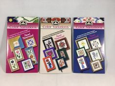 You are buying a lot of 3 Like new DMC Color Variations Cross Stitch and Embroidery Designs. Each booklet contains 6 individual designs, there are 18 total designs. | eBay!