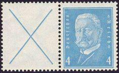 Germany, German Empire, German Reich 1932, Hindenburg, se-tenant, mint never hinged superb (postfr., Michel-no. W 26 / Michel EUR 60,). Price Estimate (8/2016): 15 EUR.