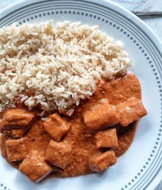 Vegan Butter Chicken Recipe - Plant Based And Broke Vegan Butter Chicken, Tofu Chicken, Sauce For Chicken, Chicken Gravy, Chicken Recipes, Vegan Bean Chili, Vegan Mac And Cheese, Everyday Dishes, Prep Kitchen