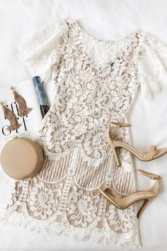Got a full party schedule? The Lulus Pearson White Lace Short Sleeve Dress has got you covered! Lovely eyelash lace sheath dress with fluttering short sleeves. Short Lace Dress, Lace Sheath Dress, Short Sleeve Dresses, Short Sleeves, Stylish Dresses, Cute Dresses, Fashion Dresses, Women's Dresses, Awesome Dresses