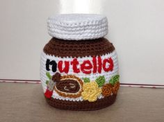 Nutella crochet #amigurumi #sweet #chocolate ganchillo sehr schöne Idee - leider ohne Anleitung