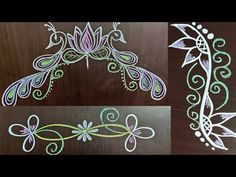 Rangoli Designs Latest, Colorful Rangoli Designs, Beautiful Rangoli Designs, Rangoli Borders, Rangoli Border Designs, Kolam Designs, Small Rangoli, Easy Rangoli, Birthday Photo Banner