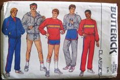 1980s mens athletic attire, being healthy and fit became popular in the 80's so casual athletic wear became a trend
