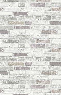 NEW LUXURY ERISMANN BRIX GREY BRICK WALL EFFECT EMBOSSED TEXTURED VINYL WALLPAPER 6703-10: Amazon.co.uk: Kitchen & Home