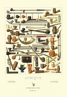 Afrique: Various Pipes - Not your usual pipe shape chart! www.eacarey.co.uk #pipesmoking #careypipes