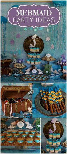 Love this mermaid party where they transformed her home into a under sea world! See more party ideas at CatchMyParty.com!