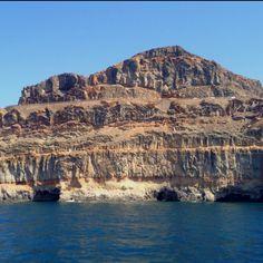 The coastline of Puerto de Mogan