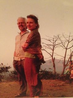 Picture of Liz Gilbert & Richard from Texas Vogt on a moutaintop in India. Liz Gilbert, Amazing Women, Traveling, Texas, India, Woman, Couple Photos, My Style, Pictures